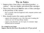 tie in sales