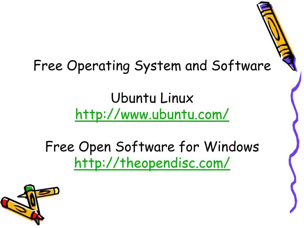 Free Operating System and Software