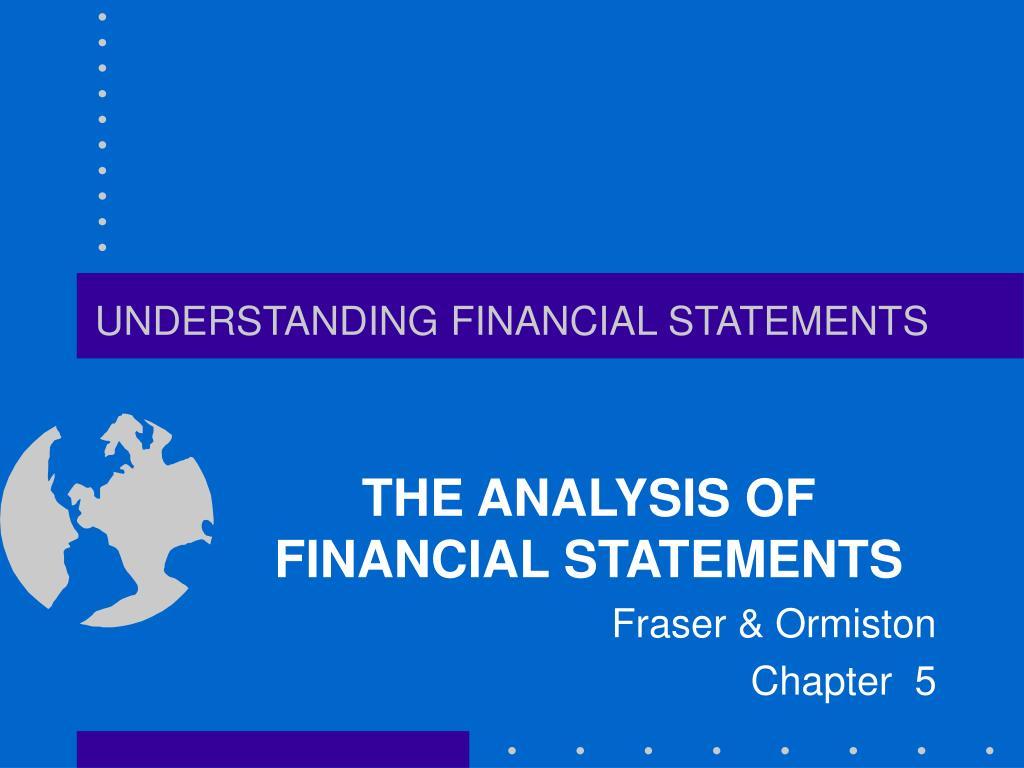 understanding financial statements l.