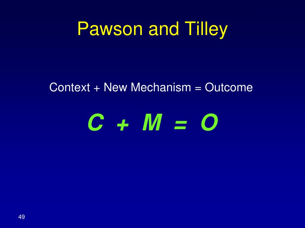 Pawson and Tilley