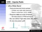 uwb impulse radio