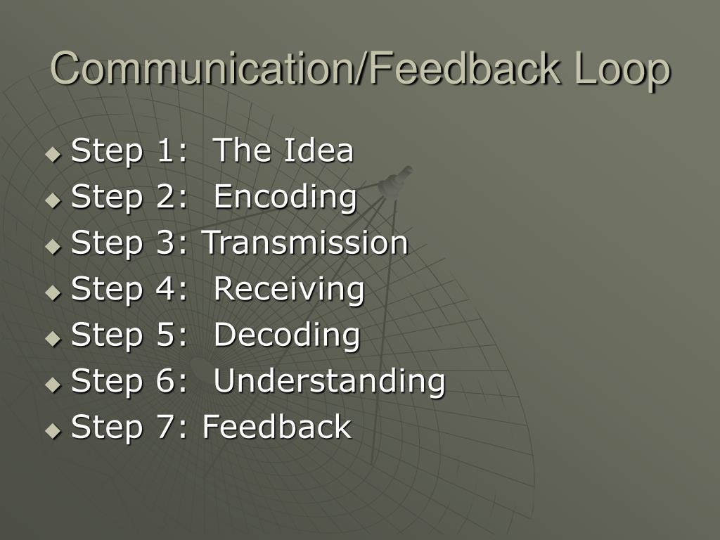 Communication/Feedback Loop