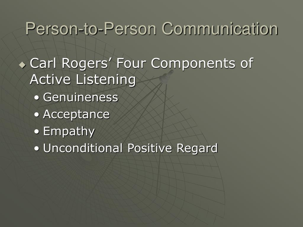 Person-to-Person Communication