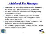 additional key messages