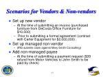 scenarios for vendors non vendors