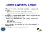 session definition context7