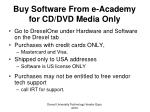 buy software from e academy for cd dvd media only