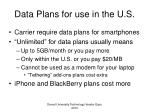 data plans for use in the u s