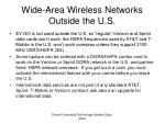wide area wireless networks outside the u s