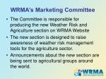 wrma s marketing committee