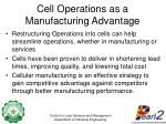 cell operations as a manufacturing advantage