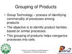 grouping of products