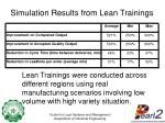 simulation results from lean trainings