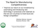 the need for manufacturing competitiveness3