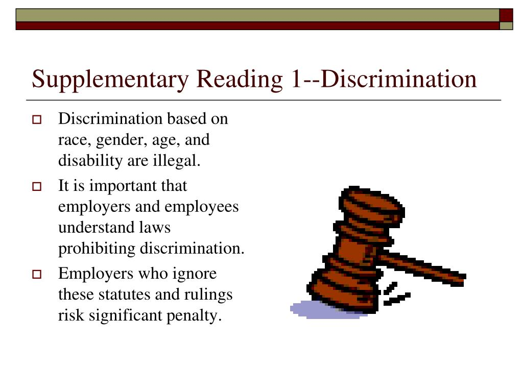 Supplementary Reading 1--Discrimination