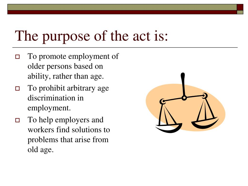 The purpose of the act is: