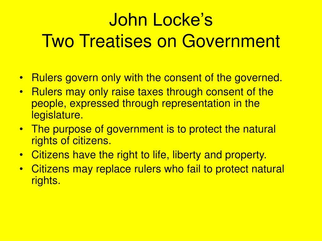 john locke's two treatises of government Two treatises of government  cambridge university press to locke, john, two treatises of government locke, john (1996  john locke's theory of.