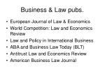 business law pubs