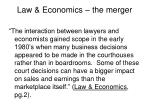 law economics the merger