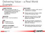 delivering value a real world example