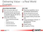 delivering value a real world example25
