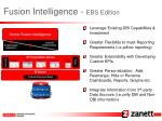 fusion intelligence ebs edition