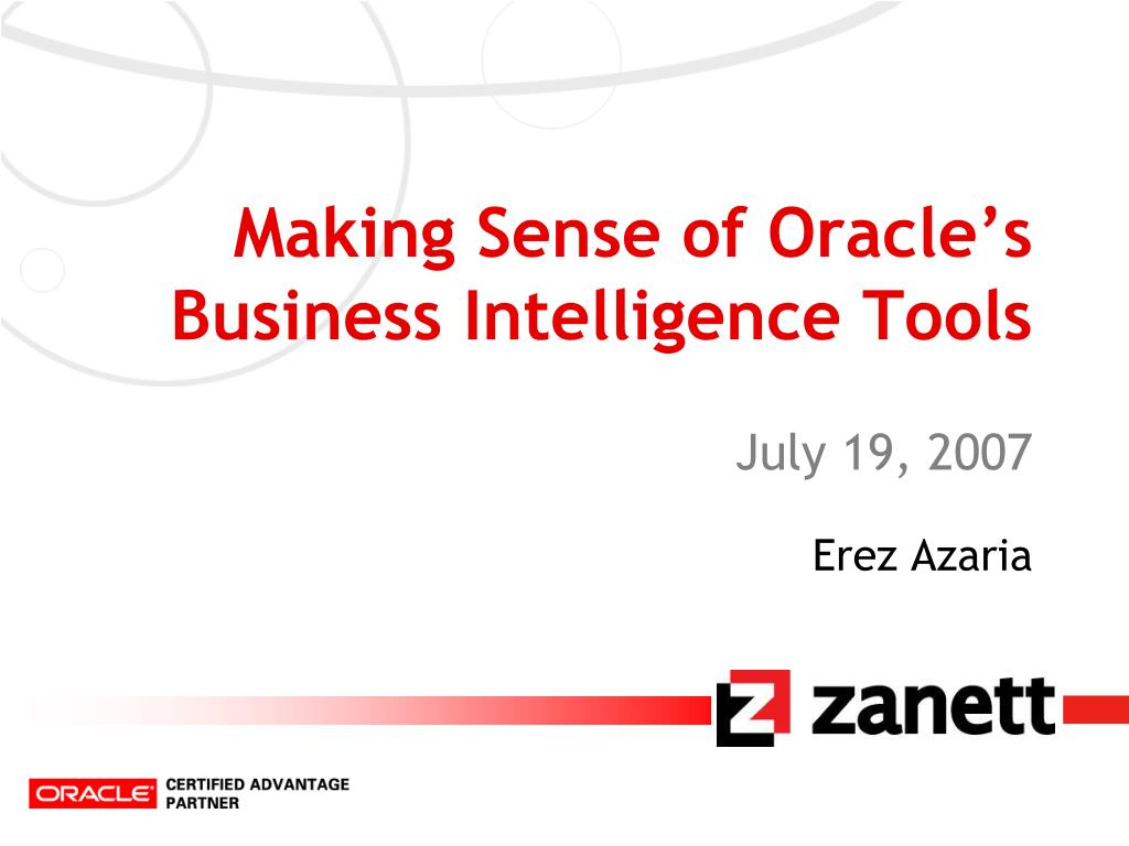 making sense of oracle s business intelligence tools l.