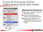 oracle bi enterprise edition enables consistency security reuse flexibility