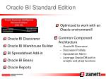 oracle bi standard edition