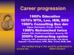 career progression