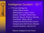 intelligence quotient iq