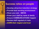 success relies on people