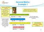 general maths example 1