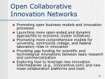 open collaborative innovation networks