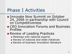 phase i activities