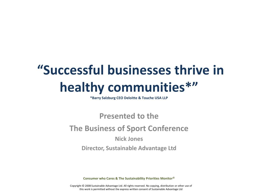 successful businesses thrive in healthy communities barry salzburg ceo deloitte touche usa llp l.