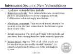 information security new vulnerabilities