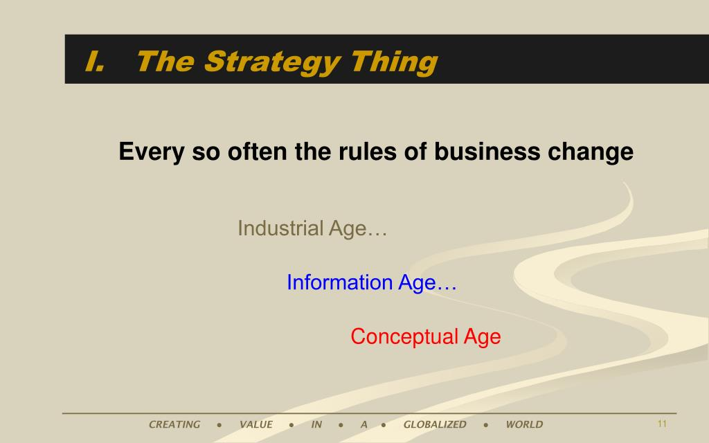 I.   The Strategy Thing