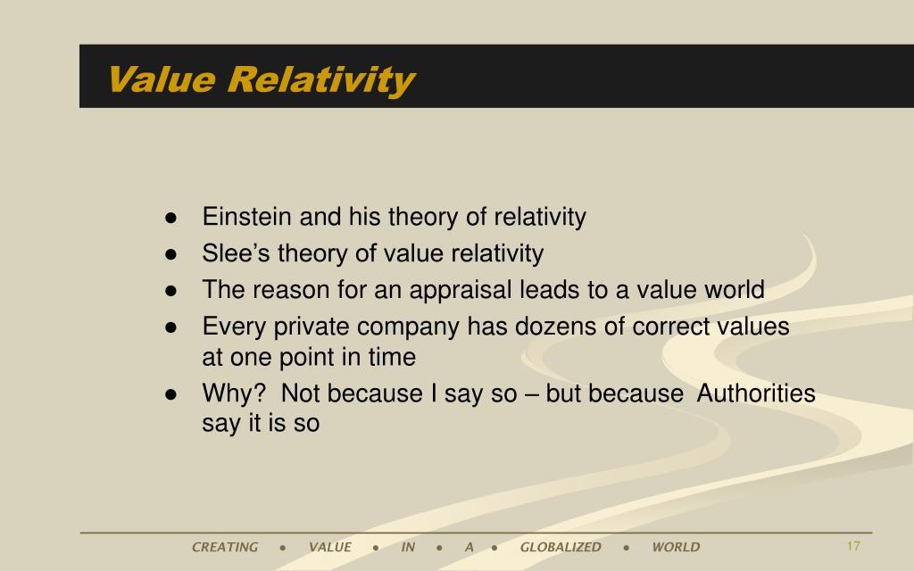Value Relativity