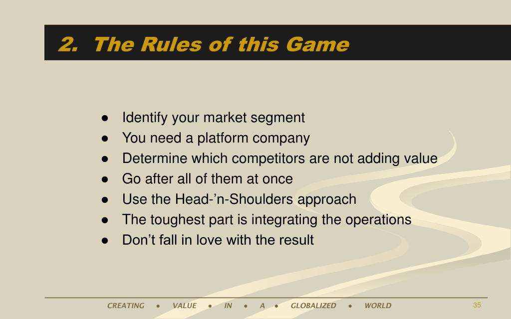 2.  The Rules of this Game
