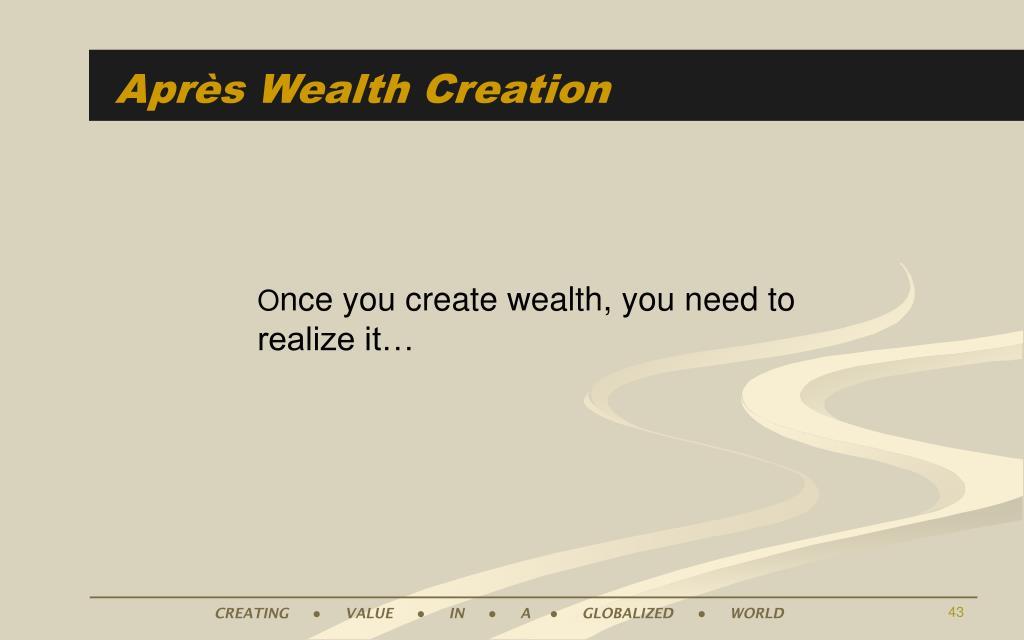 Après Wealth Creation