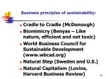 business principles of sustainability