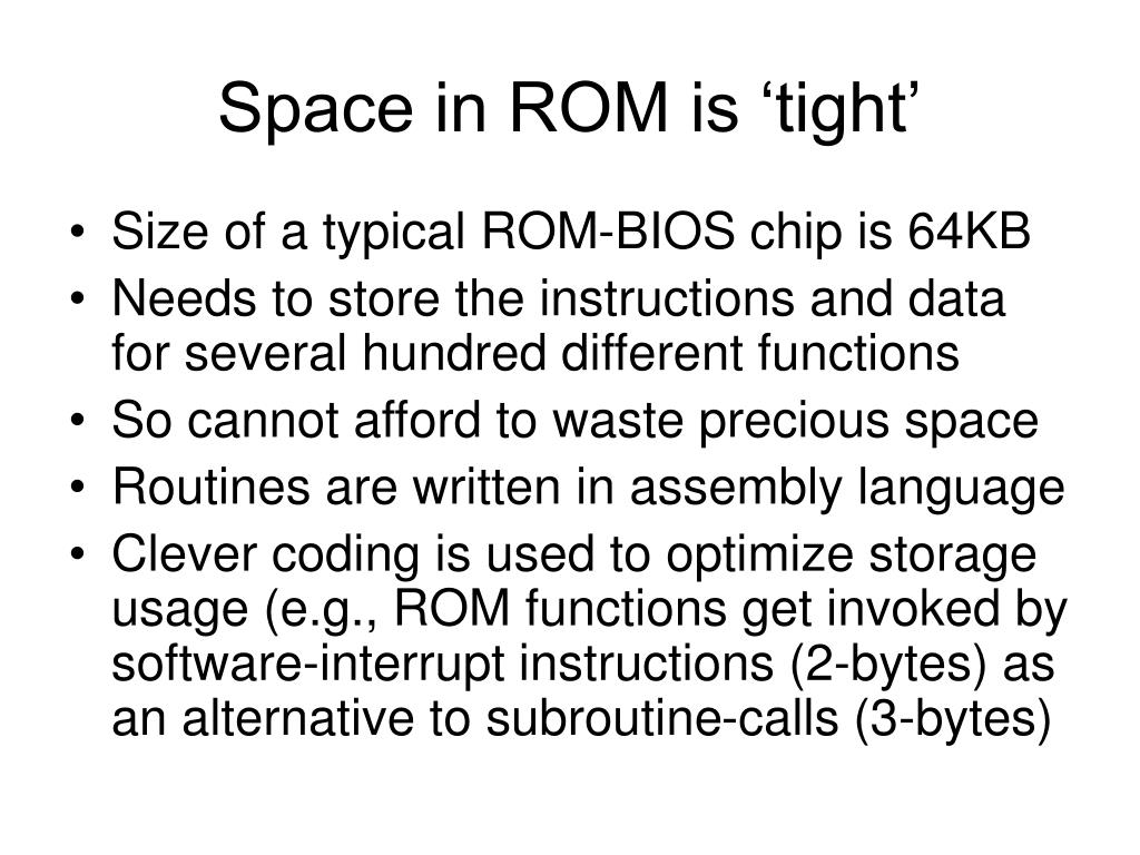 Space in ROM is 'tight'