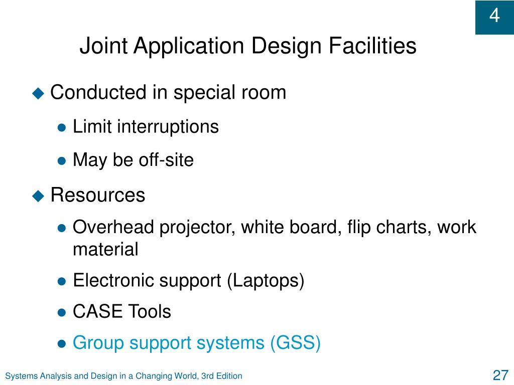 Joint Application Design Facilities