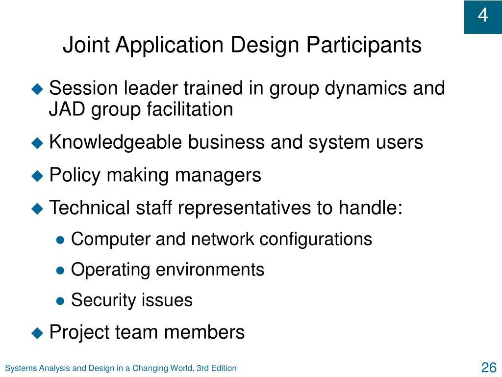 Joint Application Design Participants