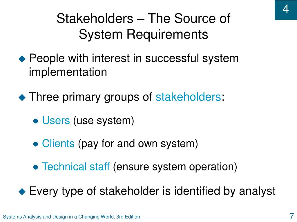 Stakeholders – The Source of
