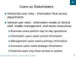 users as stakeholders