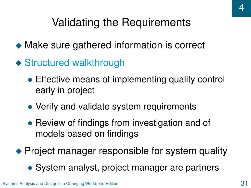 Validating the Requirements