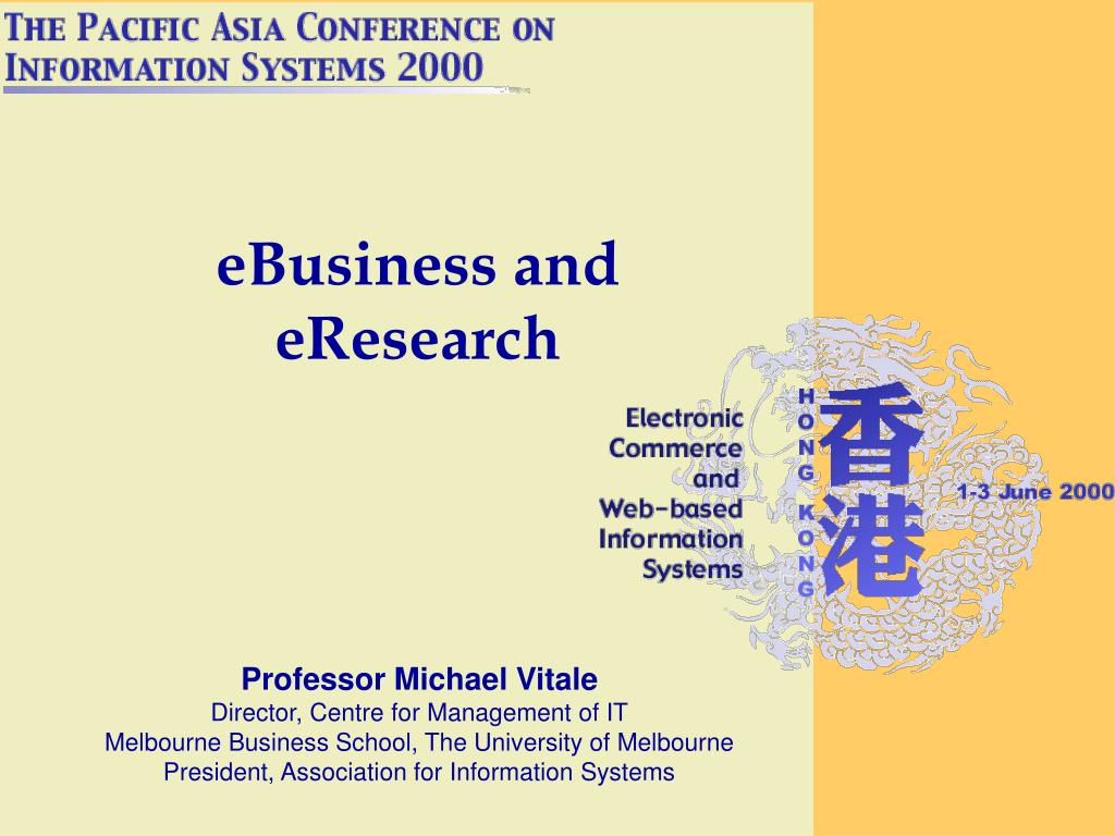 ebusiness and eresearch l.