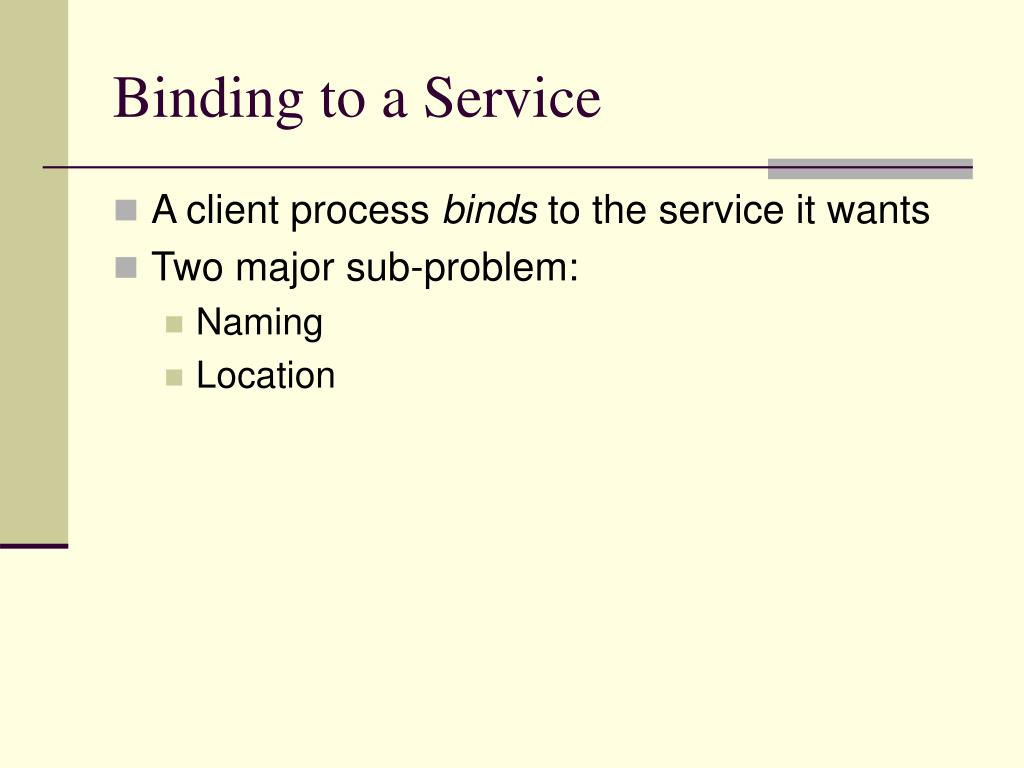 Binding to a Service